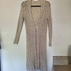 FREE PEOPLE OPEN FRONT KNIT MAXI SWEATER/DUSTER